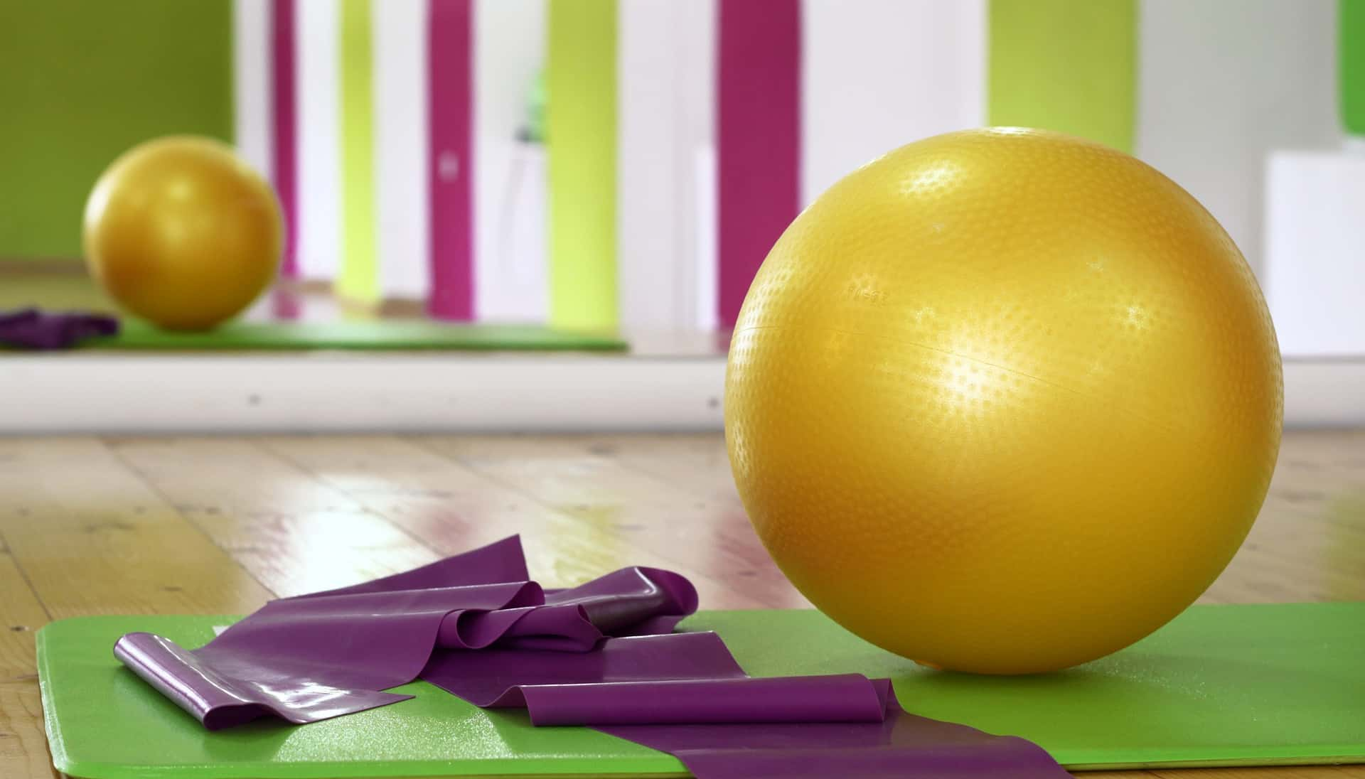 workout ball-exercise at home