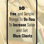 10 things to do to increase sales