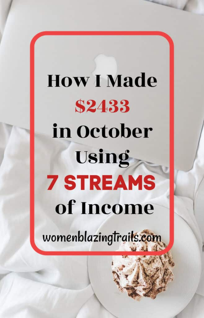 HOw I made $2433 using multiple streams of income