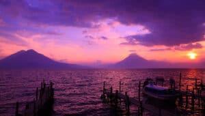 lake and volcanoes panajachel guatemala