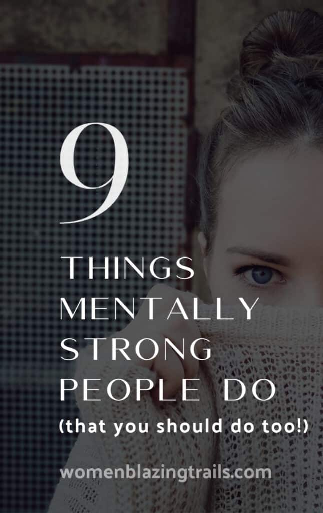 woman's face-things mentally strong people do