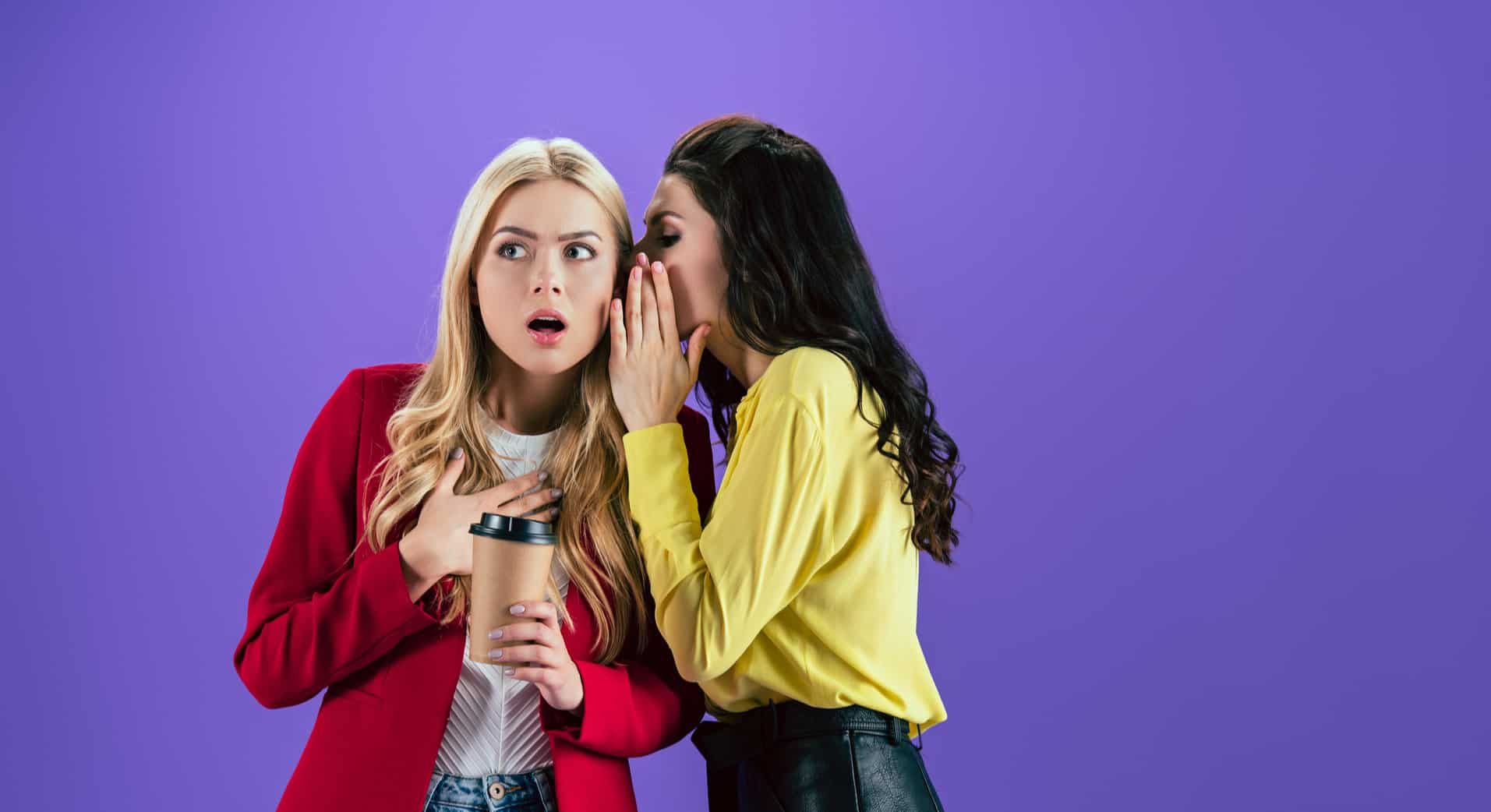 two girls whispering-increase website traffic fast