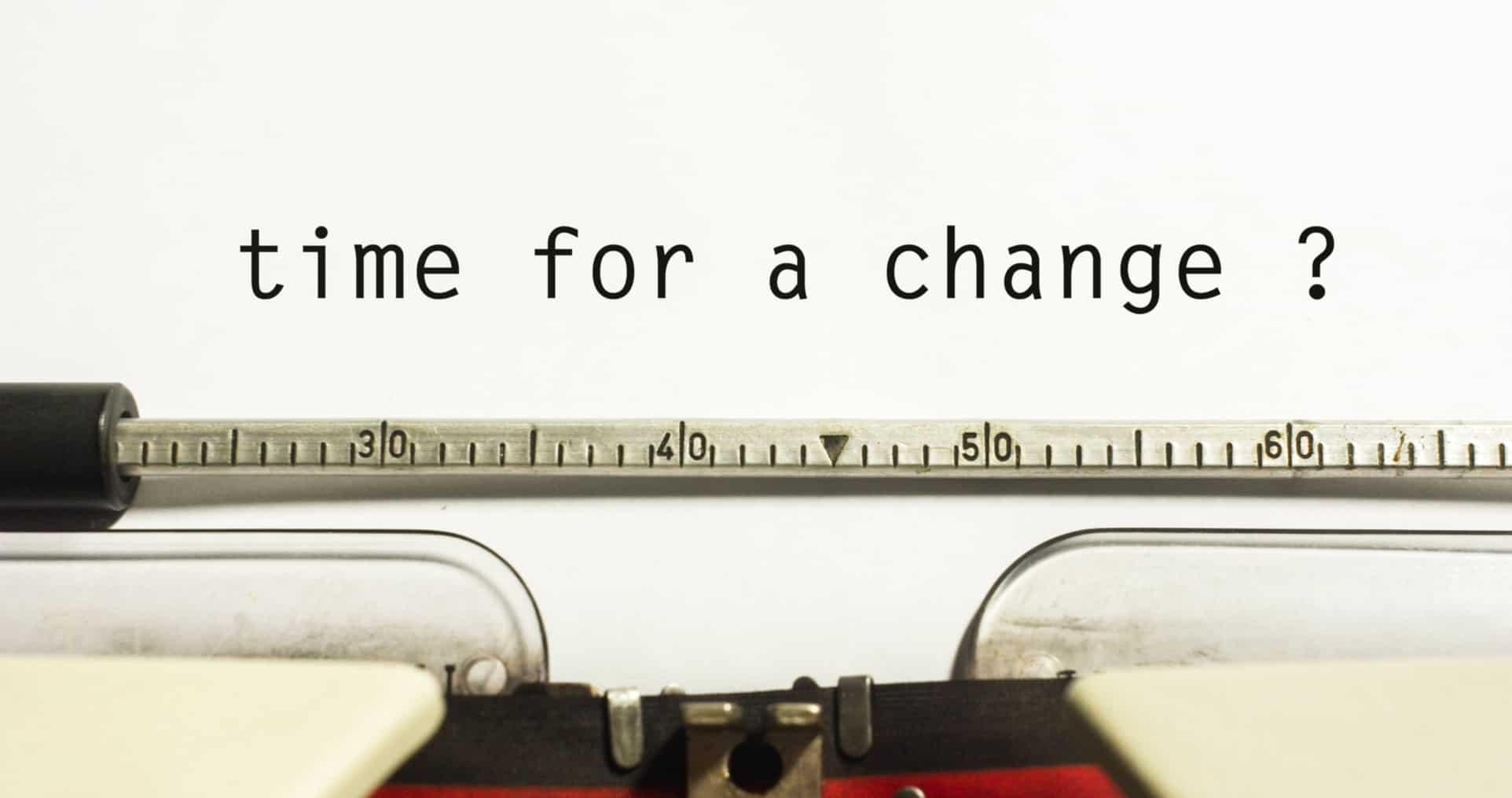 typewriter-how to make a career change