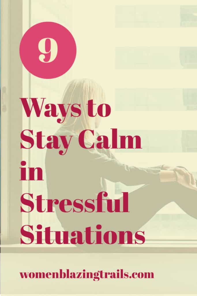 lady on window ledge-how to stay calm