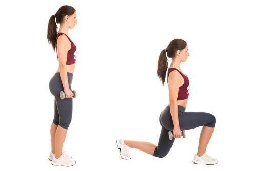 woman doing lunges-fitness for women over 50
