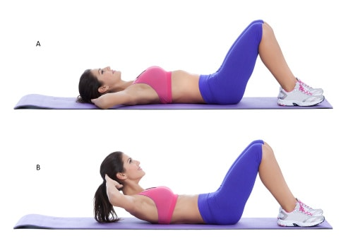 best bodyweight exercises for abs-woman doing crunches