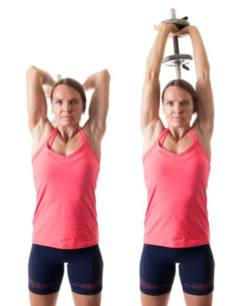 woman doing tricip exercises for women over 50