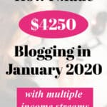 pin for blog income report