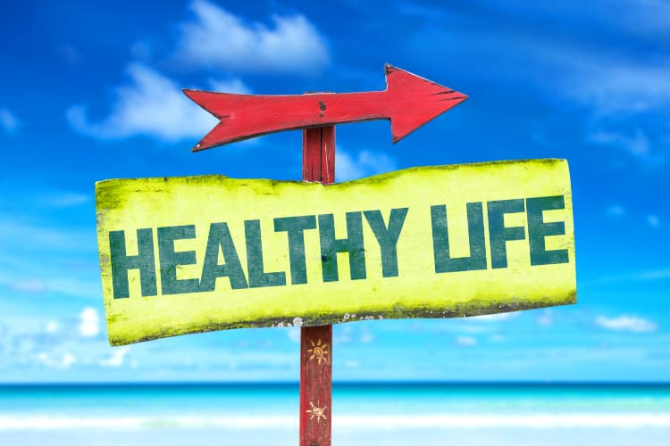 sign that says healthy life-blog about exercises for women over 50