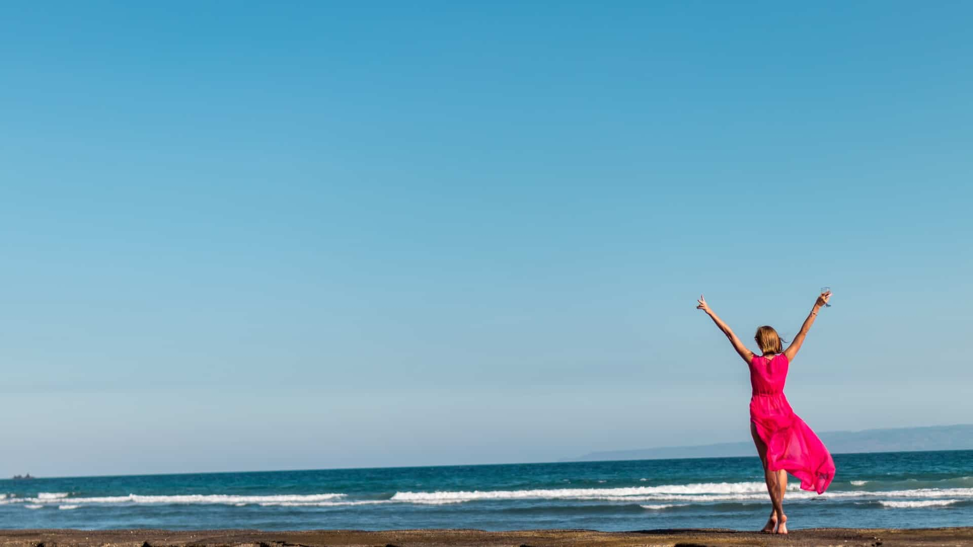 woman on beach-life over 50