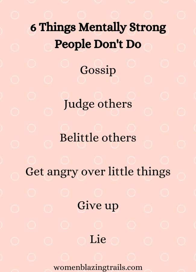 things mentally strong people don't do quote
