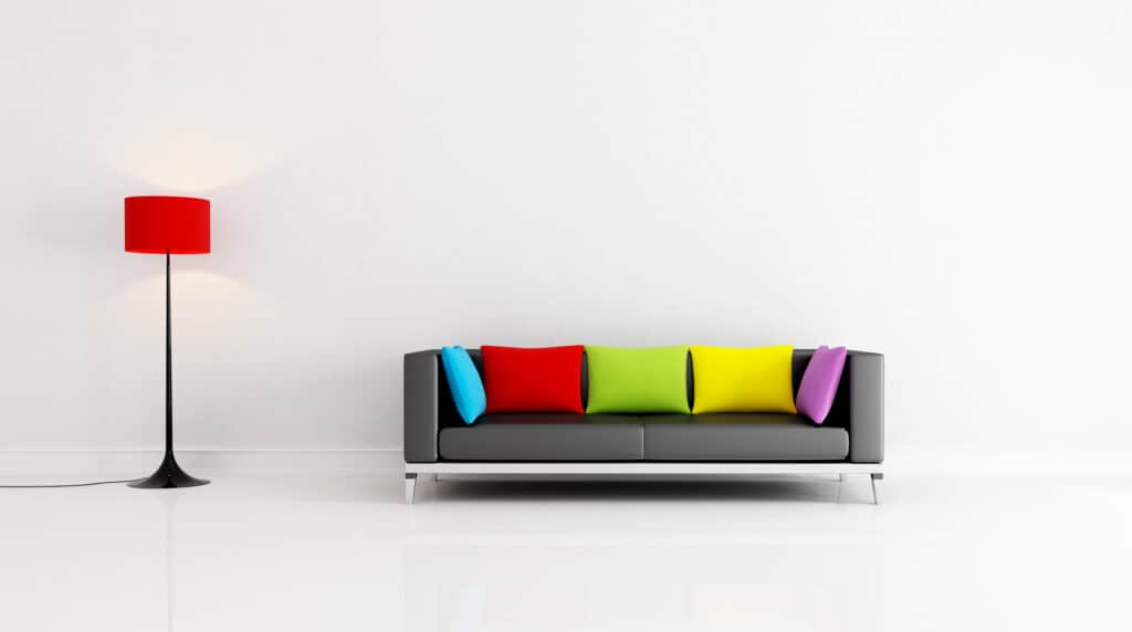 couch and lamp-declutter your life
