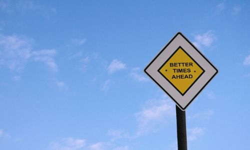 how to deal with stress-street sign that says better times ahead