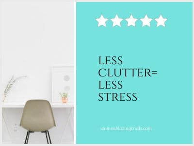 single chair at desk-how to declutter your life