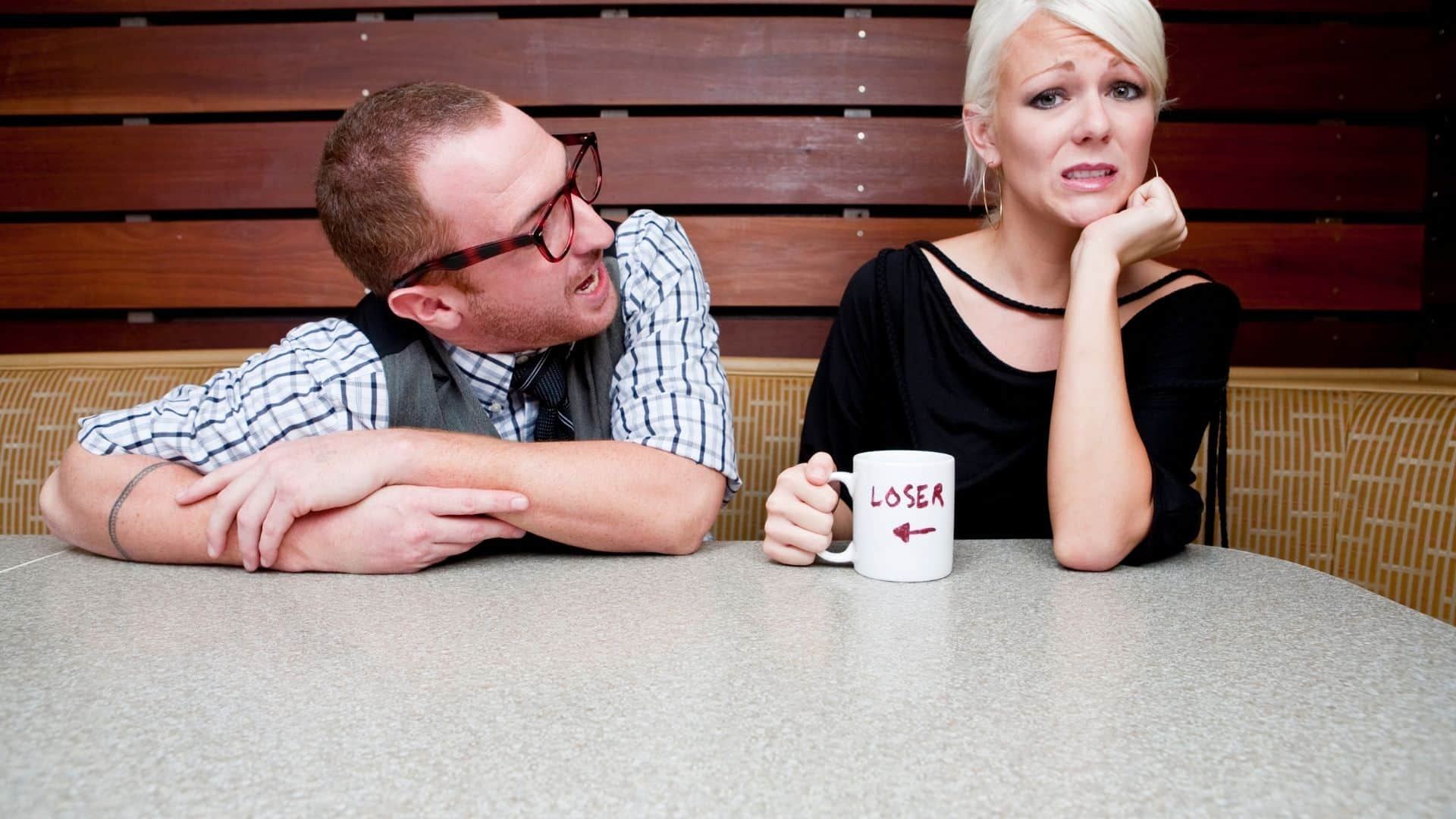 dating in your 50's-woman on a bad date
