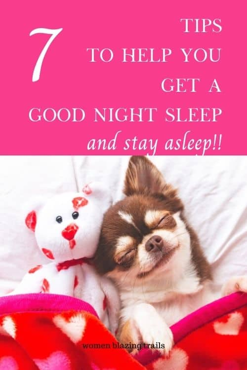 sleeping dog-how to get a good night sleep pinterest image