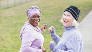 women over 50 exercising
