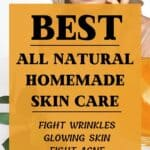 homemade skin care pinterest image