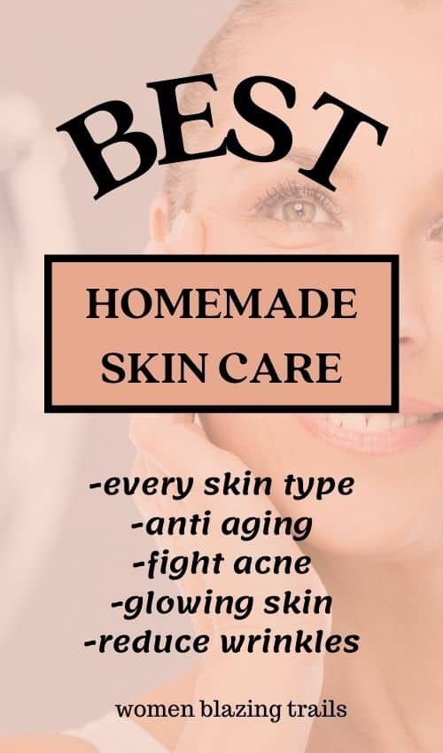 pin image for homemade skin care