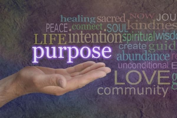 hand with the word purpose-how to change your life
