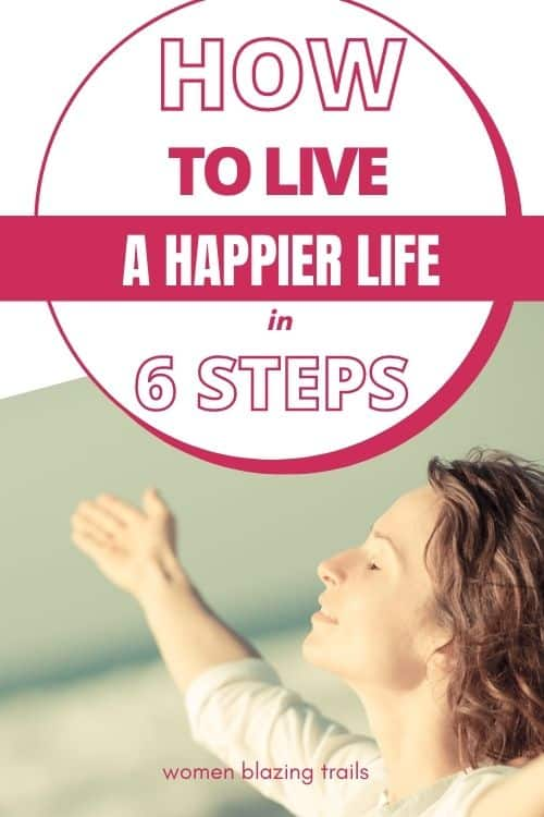 how to live a happier life pinterest image