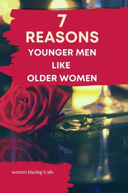 rose and a glass of wine-why younger men like older women blog post