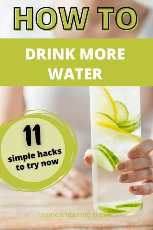 pinterest pin image on how to get yourself to drink more water