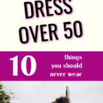 woman sitting on dock-how to dress over 50 pinterest image