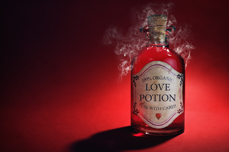 bottle of love potion-painful sex after 50 blog post